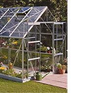 B&Q Premier Metal 8x14 Horticultural glass greenhouse