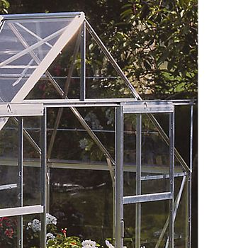 Horticultural glass glazed greenhouse