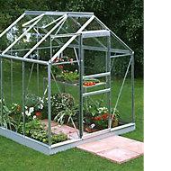 B&Q Premier Metal 6x6 Toughened safety glass greenhouse