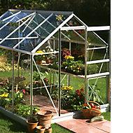 B&Q Premier Metal 6x8 Toughened safety glass greenhouse
