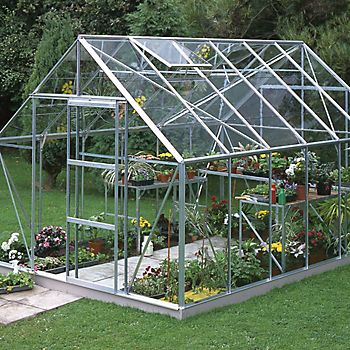 B&Q Premier metal 6x10 greenhouse