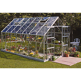 B&Q Metal 8x14 Toughened safety glass greenhouse