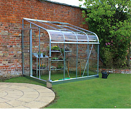 B&Q Metal 8x6 Toughened safety glass Lean-To greenhouse