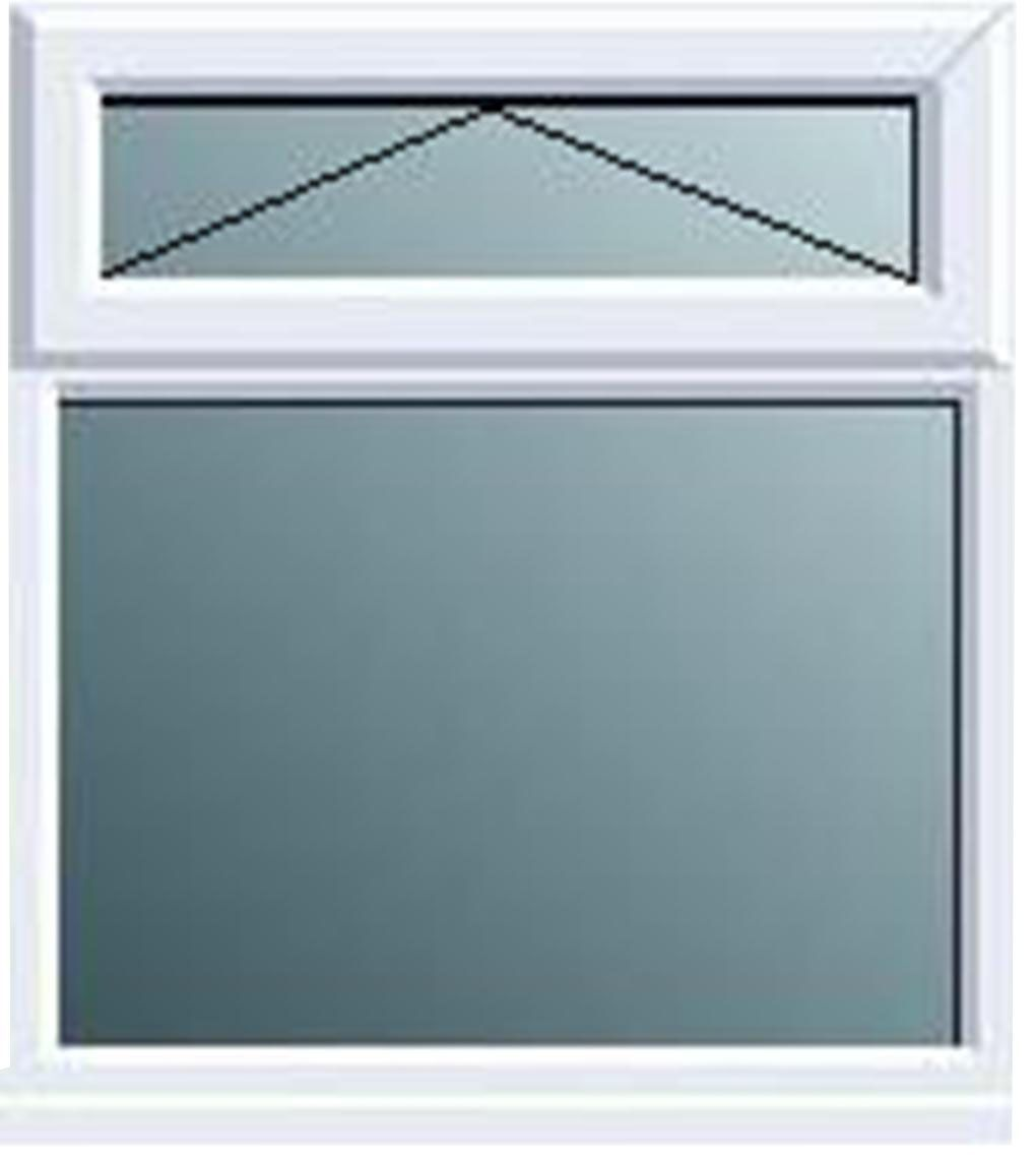 White PVCu Top Hung over Fixed Lite Window (H)820mm (W)620mm ...