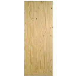 Framed Pine effect Unglazed Front door, (H)1981mm (W)762mm