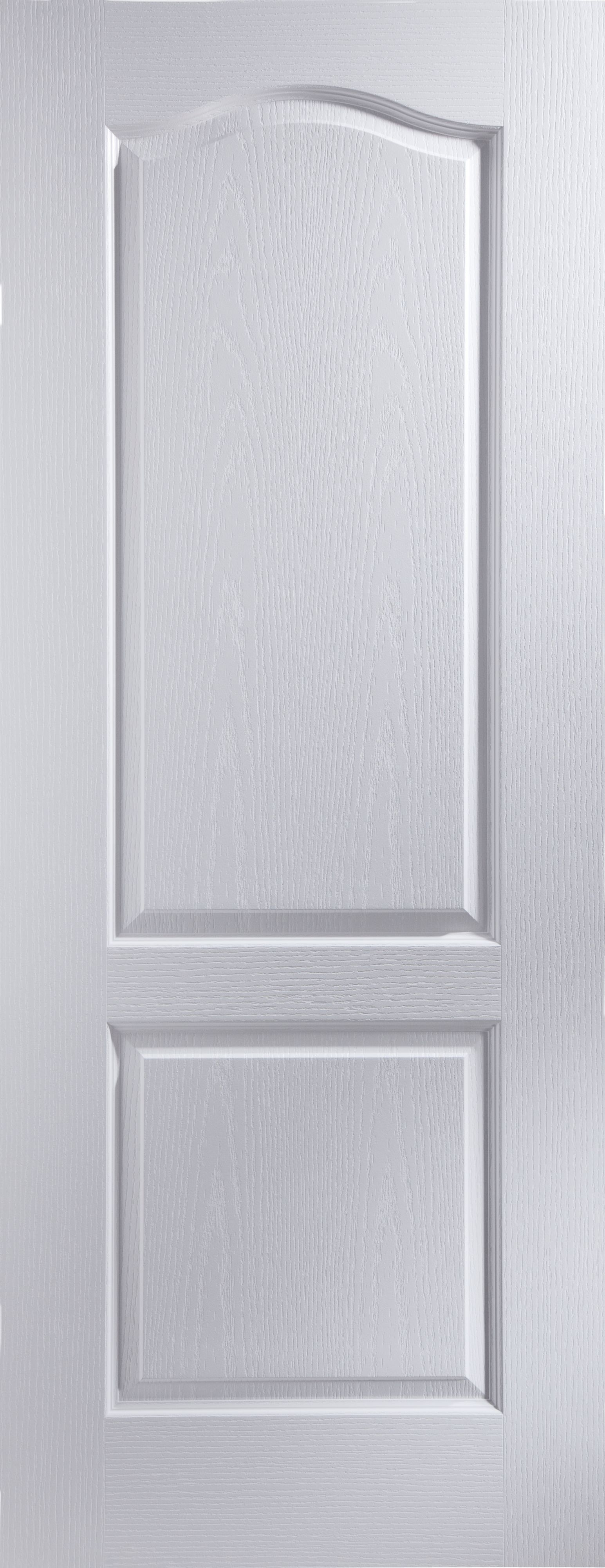 timeless design ca07d 8431c 2 Panel Arched Primed White Woodgrain Internal Door, (H)2032mm (W)813mm |  Departments | DIY at B&Q
