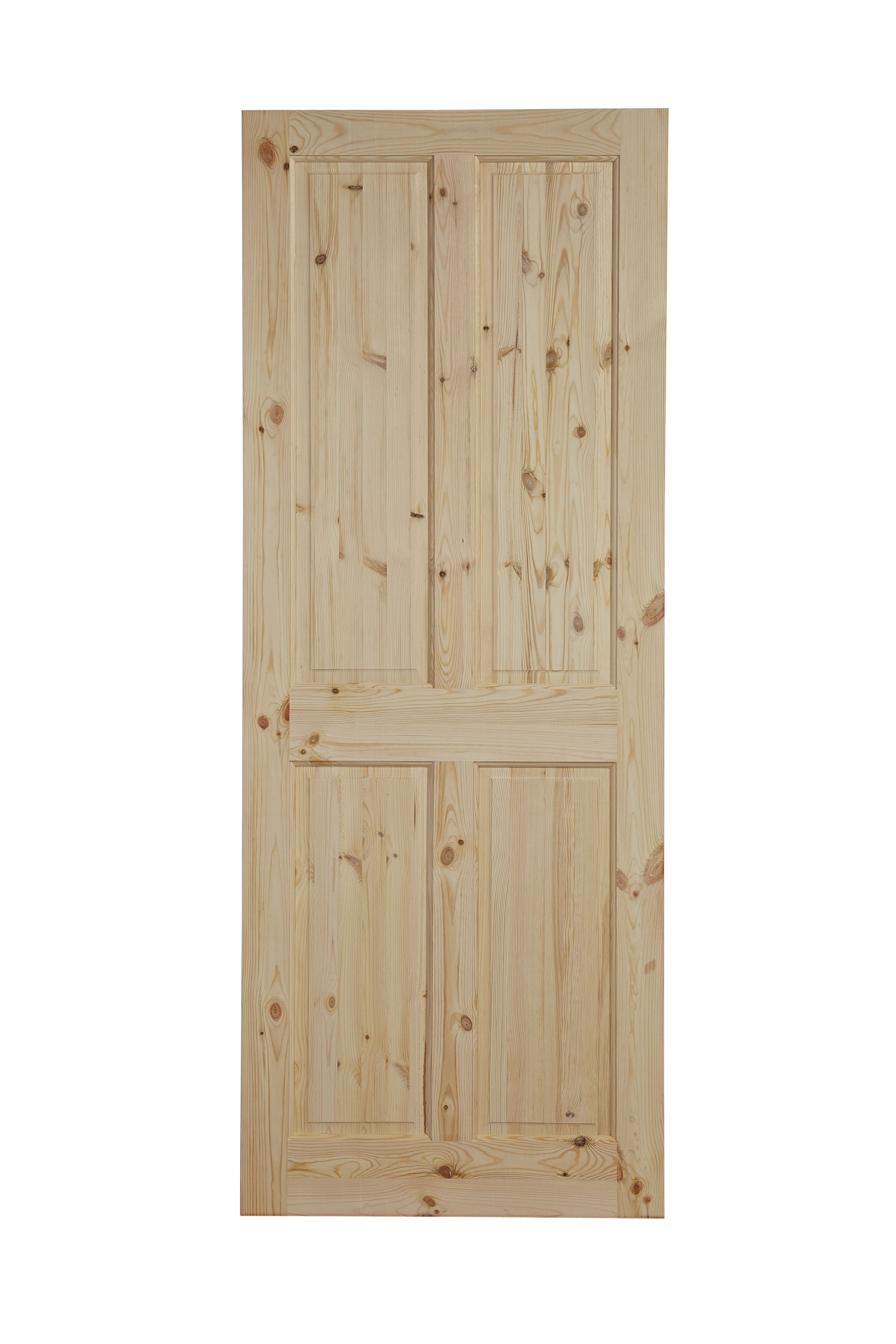 4 Panel Knotty Pine Unglazed Internal Standard Door H 2032mm W