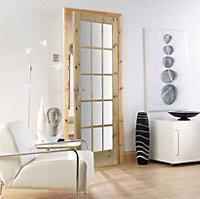 Fully glazed 15 Lite Knotty pine Internal Door, (H)2032mm (W)813mm