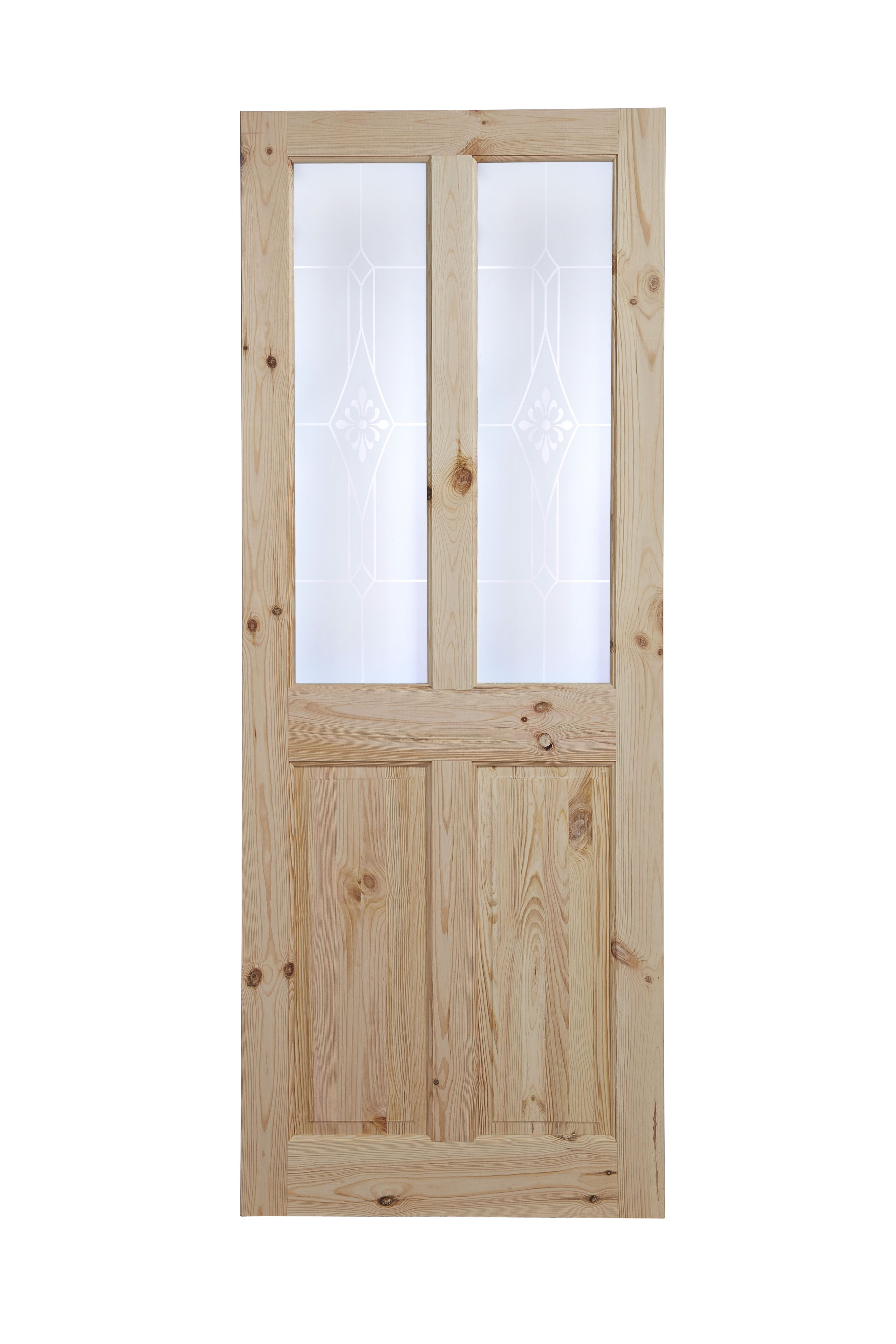 4 Panel Knotty Pine Internal Standard Door H1981mm W838mm