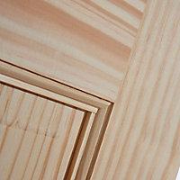 6 Panel Clear pine Internal Door, (H)1981mm (W)610mm