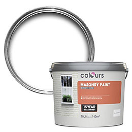 Colours Pure brilliant white Smooth Masonry paint 10L