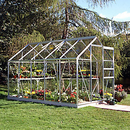 B&Q Premier Metal 6x10 Horticultural glass greenhouse