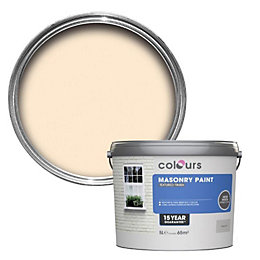 Colours Magnolia Textured Masonry paint 5L