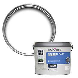 Colours Pure brilliant white Textured Masonry paint 5L