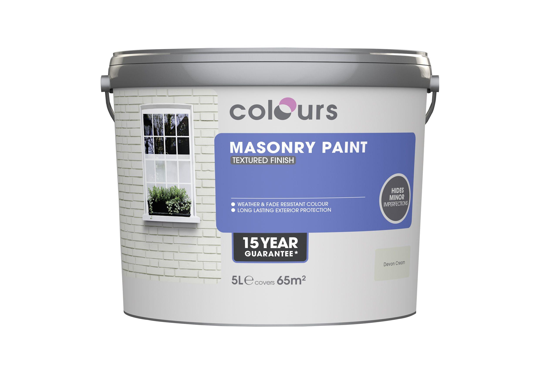 Colours Devon Cream Matt Masonry Paint 5L | Departments | DIY at B&Q