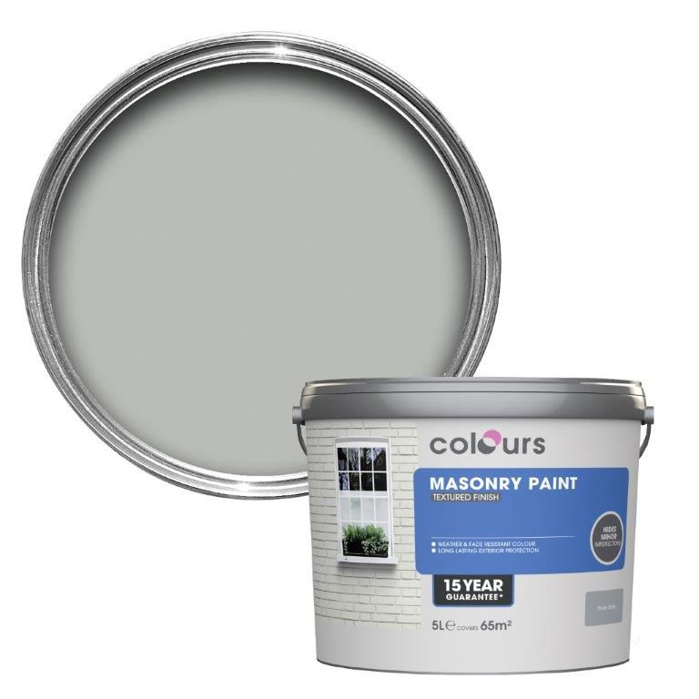 Colours Storm Grey Textured Masonry Paint 5l Departments Diy At B Q