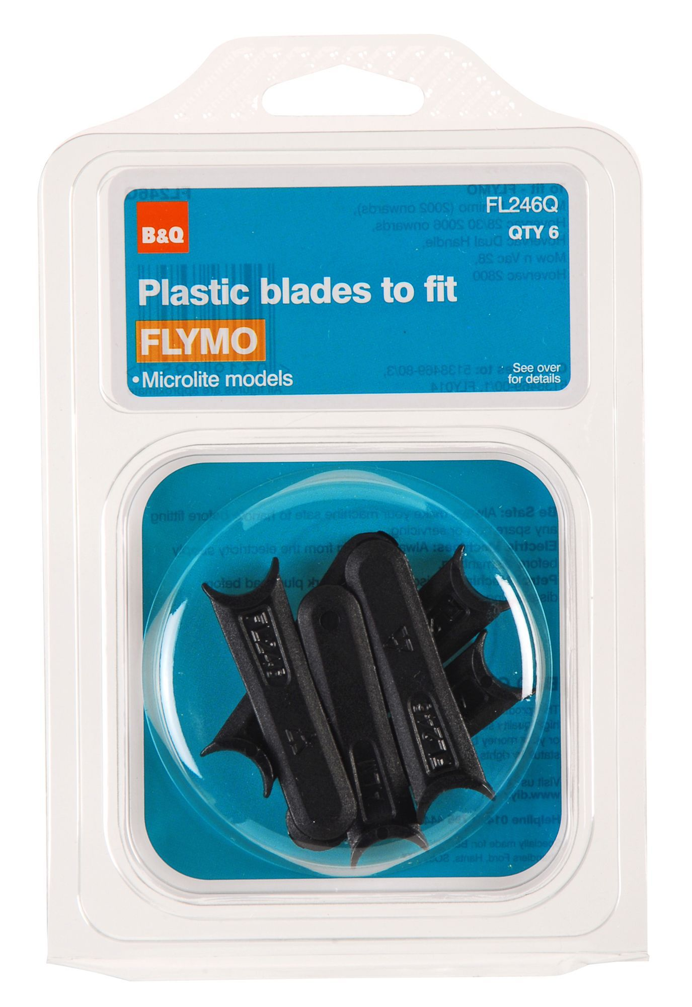 B&Q FL246Q Plastic Lawnmower blade, Pack of 6 | Departments | DIY at B&Q