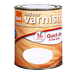 B&Q Clear Gloss Interior varnish 2.5L