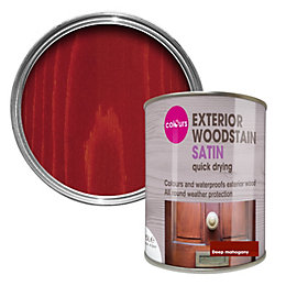 Colours Deep mahogany Satin Woodstain 0.75L