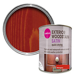 Colours Mahogany Satin Woodstain 0.75L