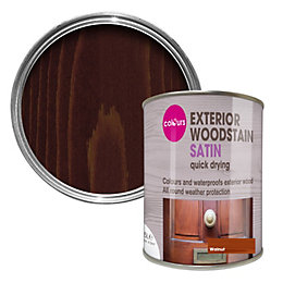 Colours Walnut Satin Woodstain 0.75L