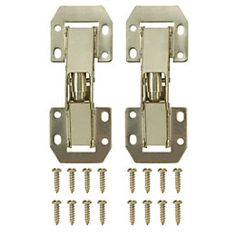 Brass Effect Metal Lay On Sprung Hinge, Pack