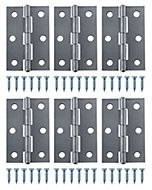 Steel Butt hinge, Pack of 6