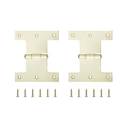 B&Q Brass Effect Parliament Hinge (W)100mm