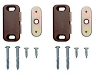B&Q Brown Magnetic Catch, Pack of 12