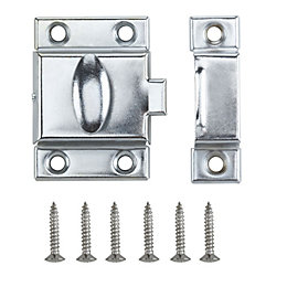 B&Q Chrome Effect Cupboard Catch