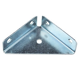 B&Q Silver Zinc effect Mild steel Flange corner