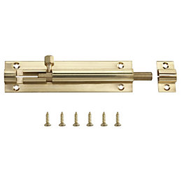 B&Q Brass Barrel bolt (L)102mm