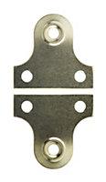 B&Q Brass effect Carbon steel Mirror flush mount (L)38mm, Pack of 2
