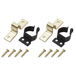 B&Q Brass Effect Gripper Catch, Pack of 2