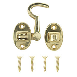 B&Q Brass Effect Cabin Hook