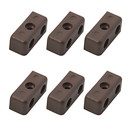 B&Q Brown Fixing Block, Pack of 24