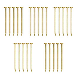 B&Q Brass Effect Picture Pin Pack of 25