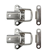 B&Q Nickel effect Toggle & plate catch, Pack of 2