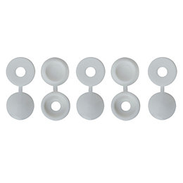 B&Q M4 Pozi Screw Cap (Dia)12mm, Pack of