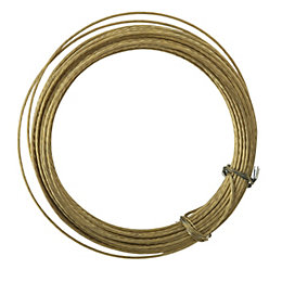 B&Q Brass Effect Picture Cord