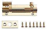 B&Q Brass Barrel bolt (L)76mm