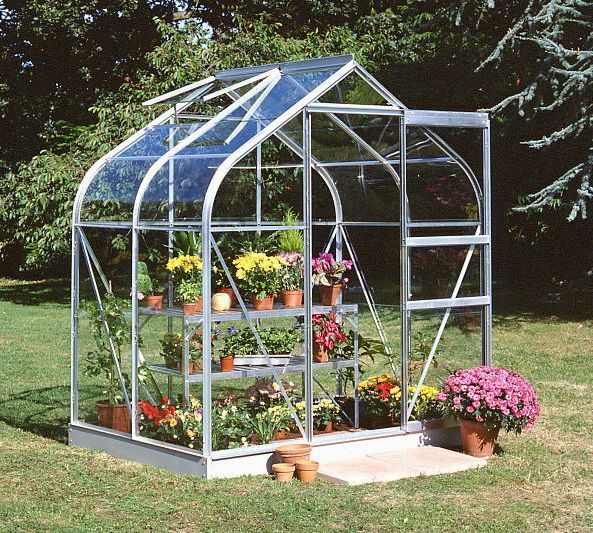B&Q Metal 6x4 Toughened safety glass greenhouse