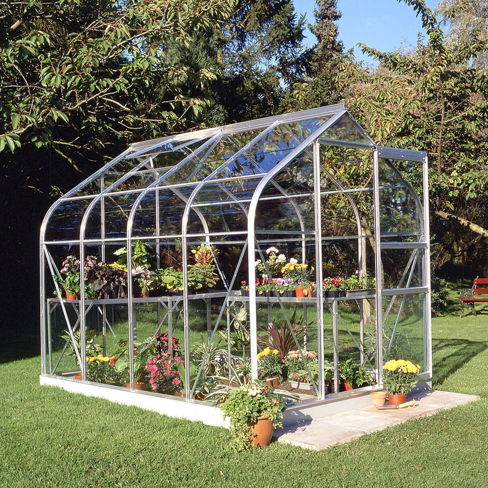 B&Q Metal 6x8 Toughened safety glass greenhouse