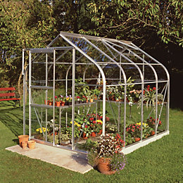 B&Q Metal 6X8 Horticultural Glass Greenhouse