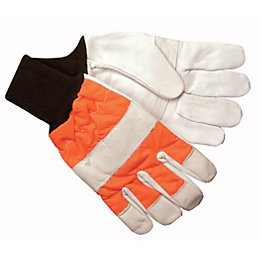 B&Q Chainsaw Protective Gloves, Pair