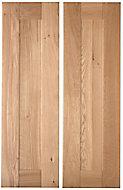 Cooke & Lewis Chesterton Solid Oak Larder door (W)300mm, Set of 2