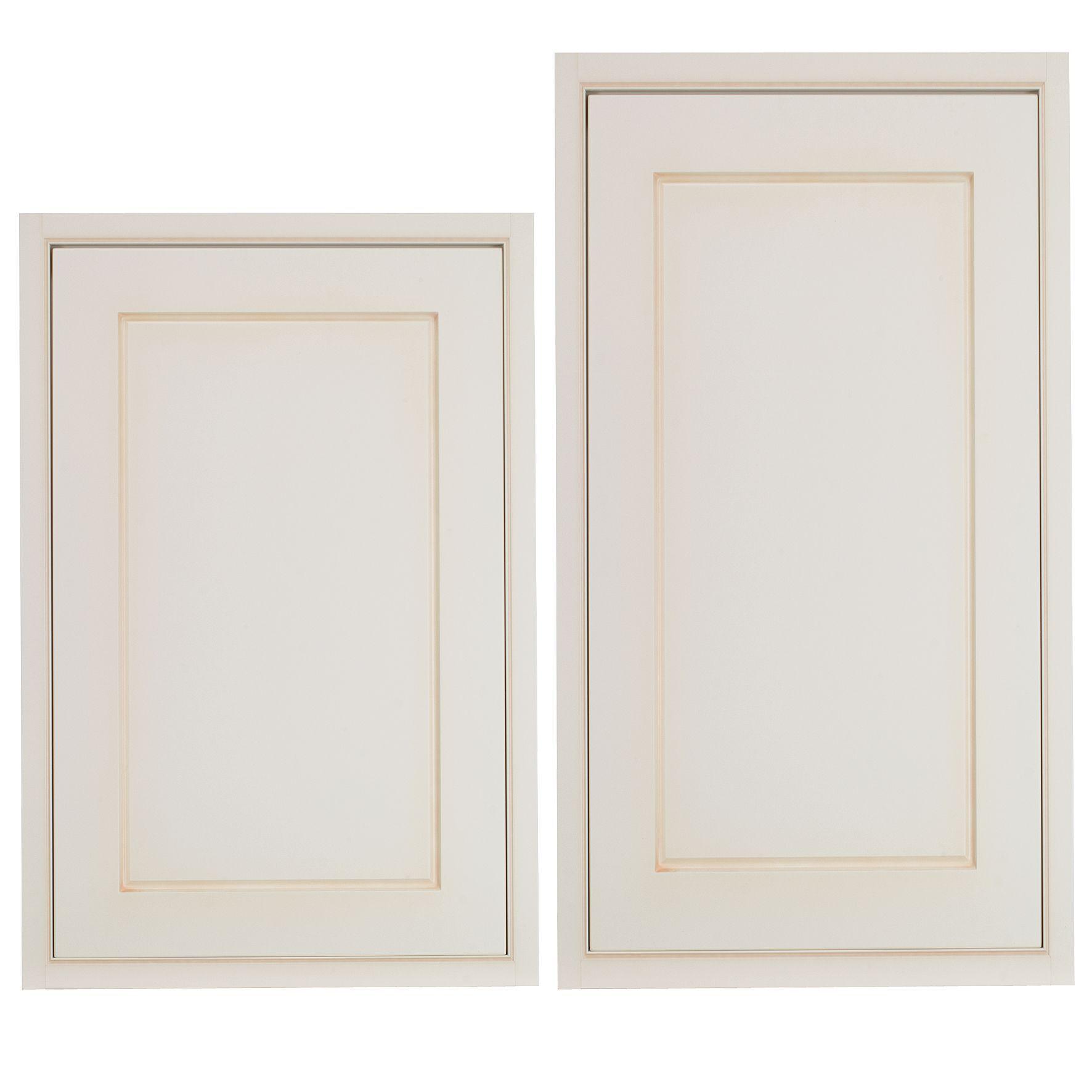 B Q Kitchen Cabinet Doors: Cooke & Lewis Woburn Framed Ivory Tall Larder Door (W
