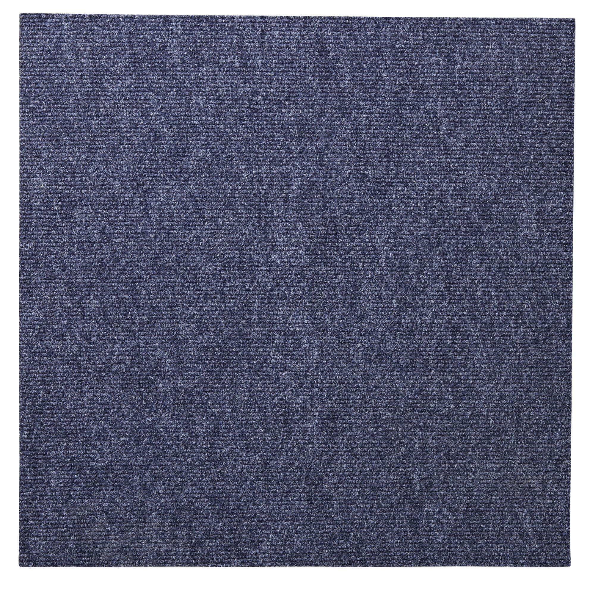 B Amp Q Blue Loop Carpet Tile L 50cm Pack Of 10