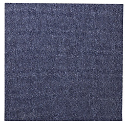 B&Q Blue Carpet Tile, Pack of 10