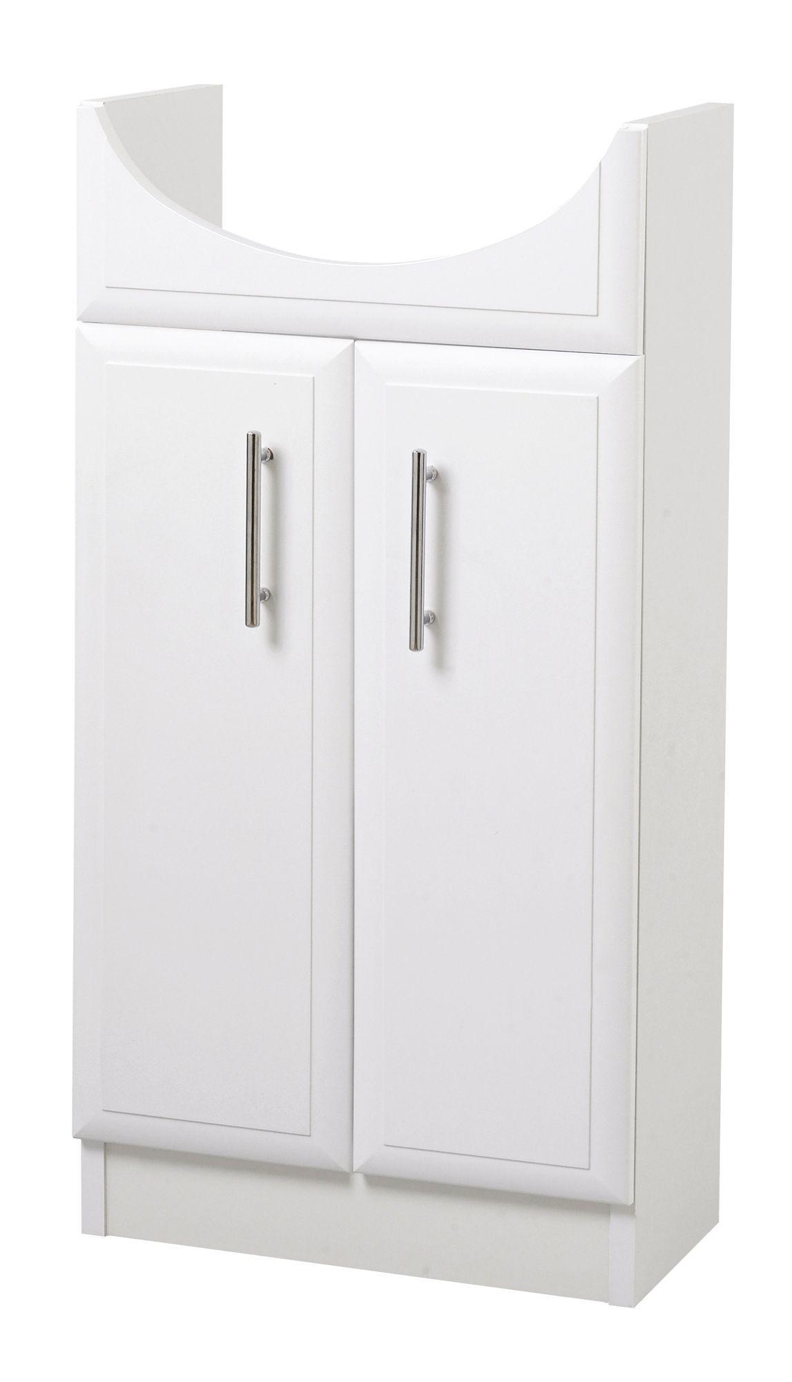 B&Q White Vanity slimline cloakroom unit | Departments ...